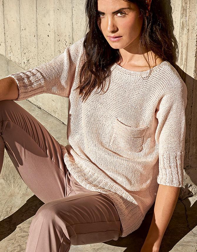 Пуловер Кимоно