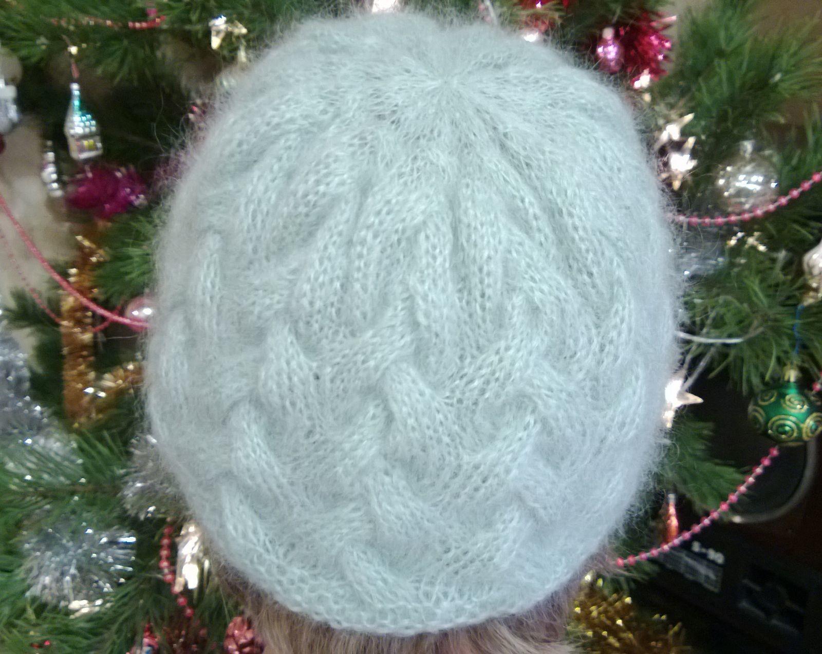 Вязание шапки узором плетенка 3х3 видео