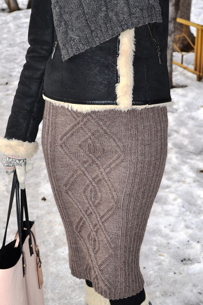 Вязаные юбки аранами